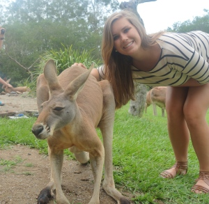 Just chillen with a Kangaroo