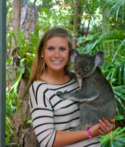 holding the cutest Koala ever, Misty!